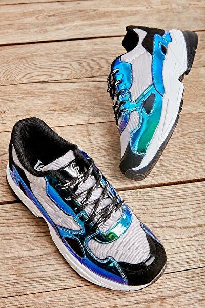 Gri/laci/siyah Kadın Sneaker L0613626022