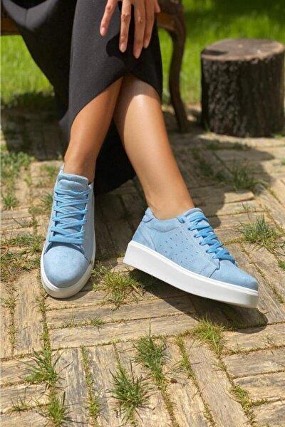 Suni Deri Kadın Spor Ayakkabı
