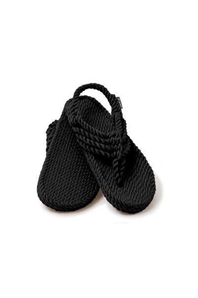 - Jester Siyah Hasır Ip Sandalet