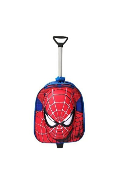 Spiderman Çekçekli Anaokulu Çantası 2in1 Örümcek Adam Çanta 3d