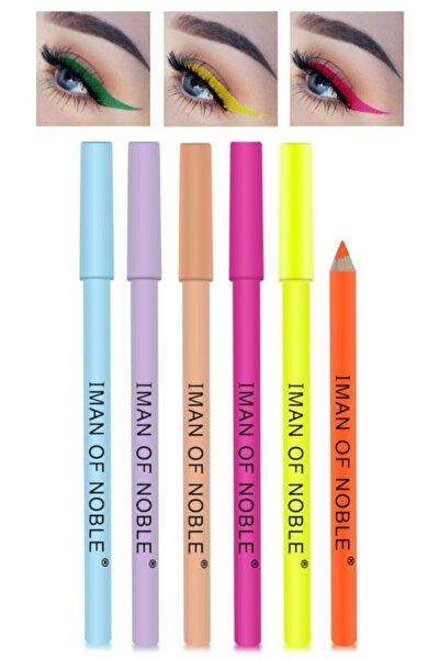 Neon Gökkuşağı Serisi  Eyeliner Seti 6'lı