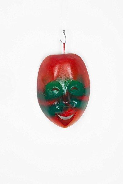 Kırmızı Ahşap Renkli Mask Duvar Dekoru No 1