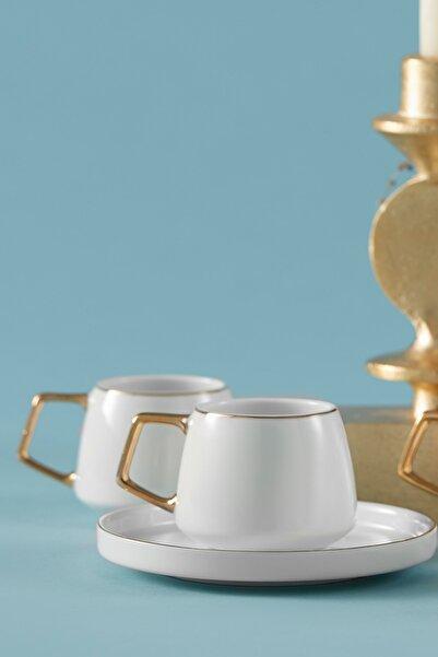 Saturn 6 Kişilik Porselen Kahve Fincan Takımı