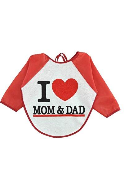 Su Geçirmez Mom Dad Desen Bebek Mama Önlüğü 6-24 Ay