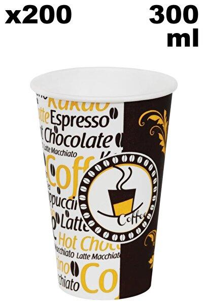 12 Oz Karton Latte Bardak 300 ml - 200'lü