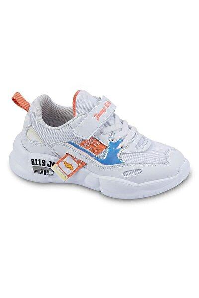 24936 Patik Kız Çocuk Spor Ayakkabı-beyaz Somon