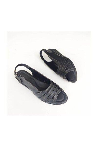 Siyah Anne Ayakkabı Sandalet