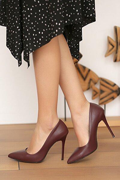 Bordo Kadın Topuklu Ayakkabı A1770-17