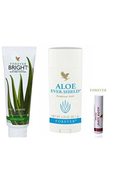 Forever Aloe Ever- Deodorant (stick Rolon Koltukaltı) + Diş Macunu Brıght Aloe Vera Ve Aloe Lips