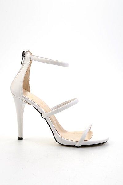 Beyaz Kadın Abiye Ayakkabı K01842762009