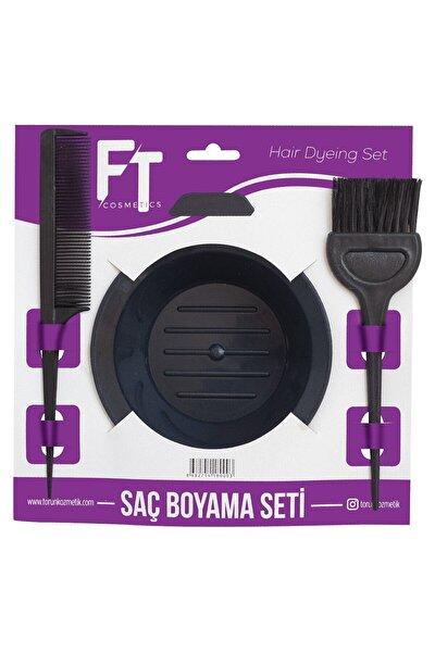 Saç Boyama Seti 3 Parça Boya Tası+boya Fırçası+krepe Tarağı
