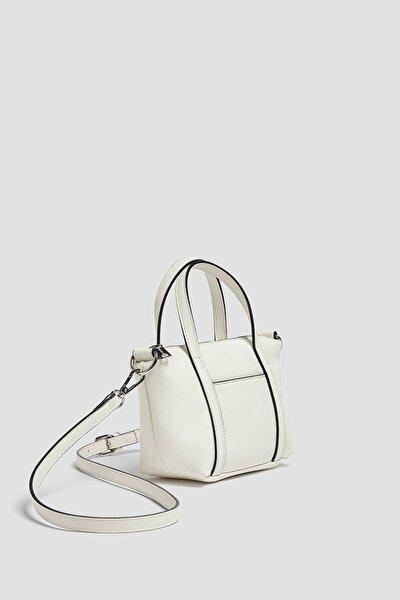 Bant Detaylı Çapraz Askılı Mini Çanta