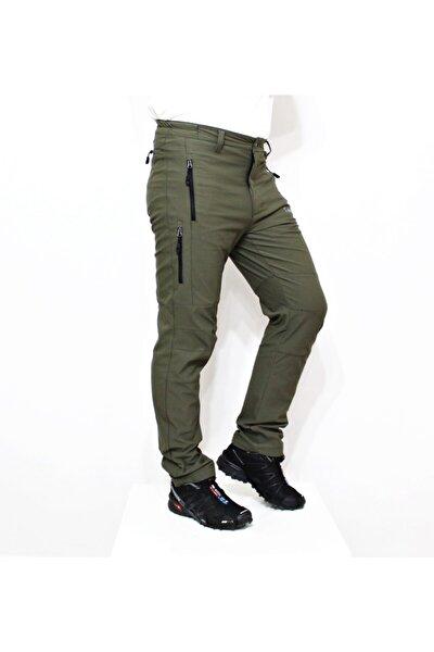 Erkek Haki Likralı Outdoor Pantolon