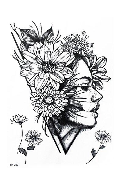 Çiçekli Surat Geçici Dövme