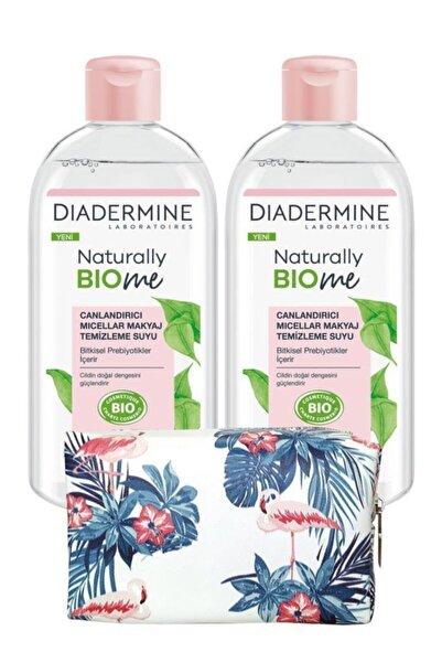 Naturally Bio Me Canlandırıcı Micellar Makyaj Temizleme Suyux2 Adet+çiçekli Makyaj Çanta