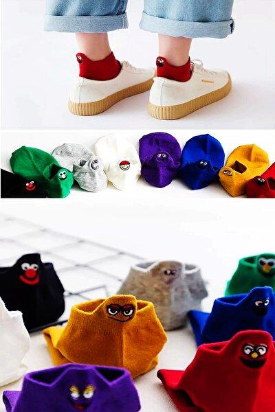 Emoji Çoraplar 8'lı Gökkuşağı Paketi