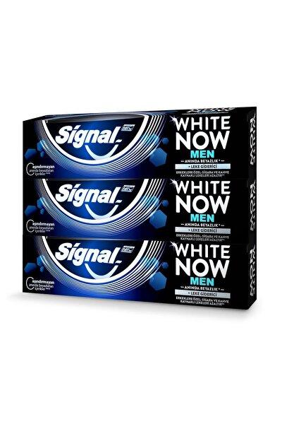 White Now Men Anında Beyazlık + Leke Giderici Diş Macunu 75 ml X3