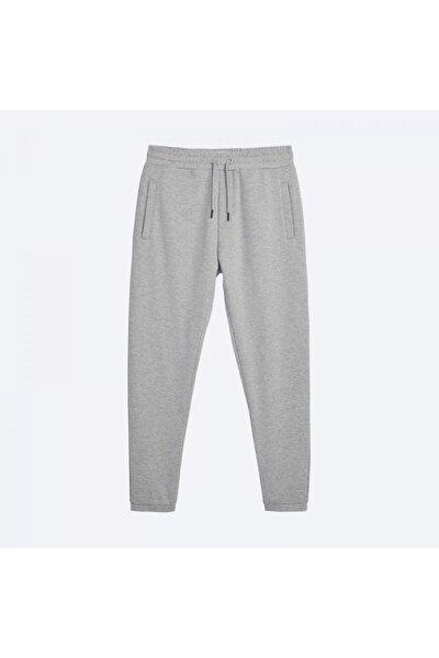 Erkek Basic Grey Jogger Pantolon