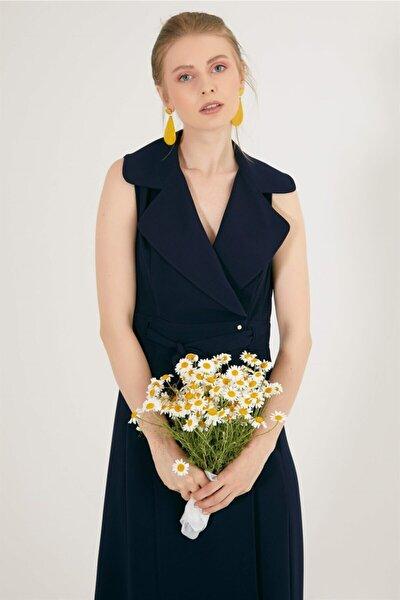 Kolsuz Kruvaze Elbise