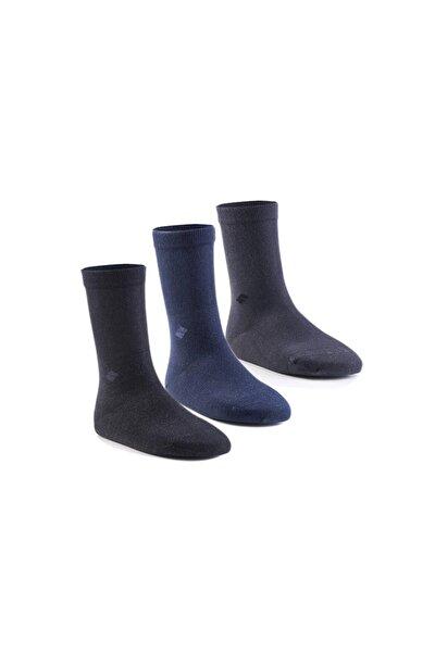 Diyabetik Soket Erkek Karışık Gümüş Çorap 3'lü