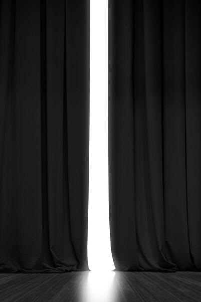 Blackout Işık Geçirmez Fon Perde Siyah Pilesiz Ekstraforlu Karartma Güneşlik  V-11