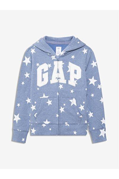 Kız Çocuk Logo Kapüşonlu Sweatshirt