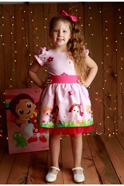 Kız Çocuk Pembe Niloya Elbise