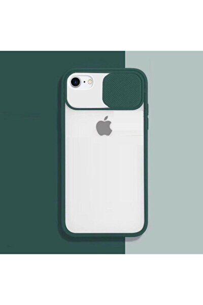 Iphone Se 2020 Kamera Slayt Korumalı Siyah Şeffaf Telefon Kılıfı