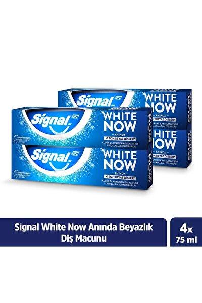 White Now Anında Beyazlık Diş Macunu 75 ml X4