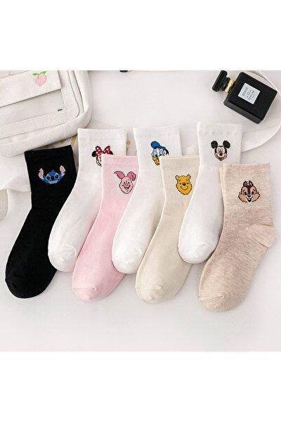 7'li Renkli Kolej Çorap (Antibakteriyel Extra Soft)