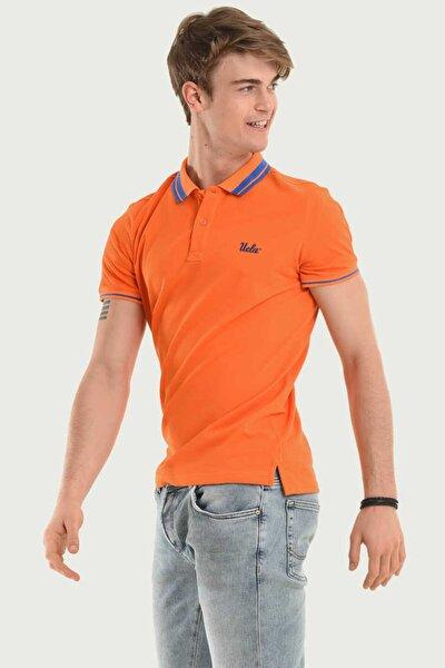 Erkek Turuncu Polo Yaka Hammer T-shirt