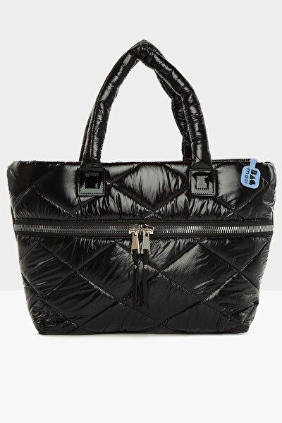 Kadın Kalın Fermuarlı Şişme Çanta M000005437