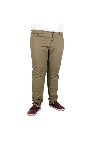 Erkek Pantolon Keten Neptun Klasik 20902 Haki