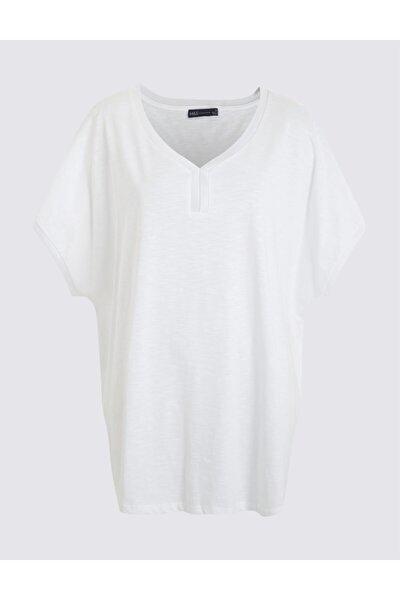 Kadın Beyaz Kısa Kollu T-Shirt T41001005H