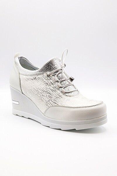 Kadın Beyaz Dolgu Topuk Ayakkabı 1955602