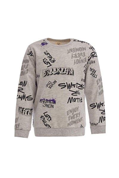 Erkek Çocuk Yazı Baskılı Sweatshirt