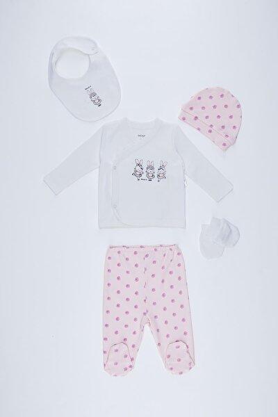 Kız Bebek Yeni Doğan 5'li Hastane Çıkış Takımı