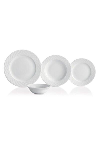 Beyaz 48 Parça 12 Kişilik Yemek Takımı