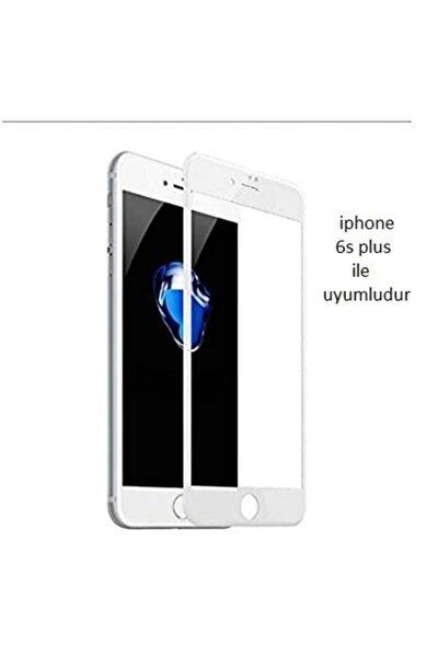 Iphone 6s Plus Curve Tempered Glass Full Beyaz Cam Ekran Koruyucu