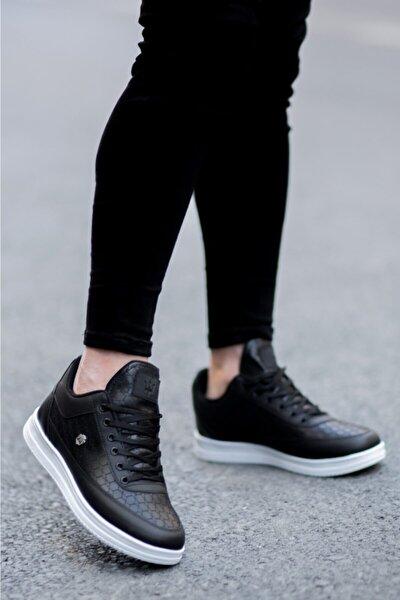 Erkek Siyah Beyaz Kapitone  Ayakkabı