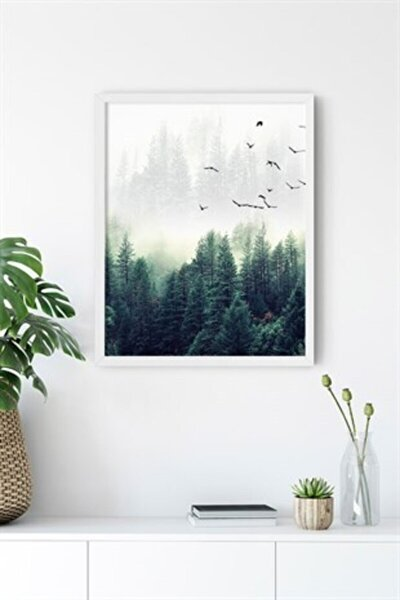 Nordic Forest Çerçevesiz 40x50 Cm Poster Tablo No:2