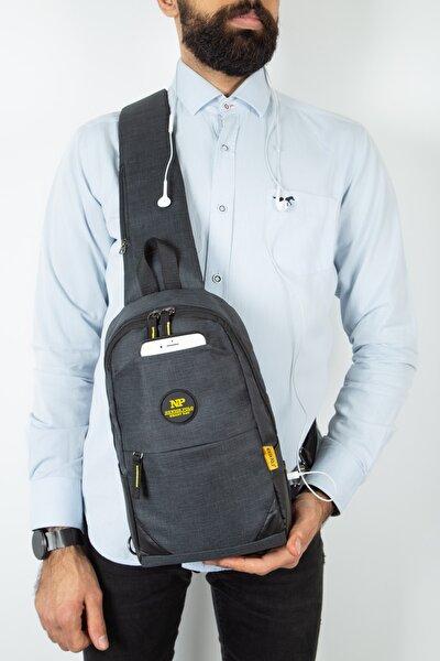 Bady Bag Çok Gözlü Usb Girişli Çapraz Çanta (siyah Sarı)