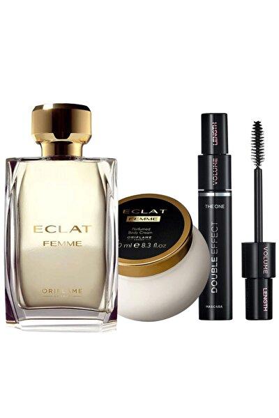 Eclat Femme Edt 50 ml Kadın Parfüm + Vücut Losyonu + Maskara Paketi  ELİTKOZMETİK-35462