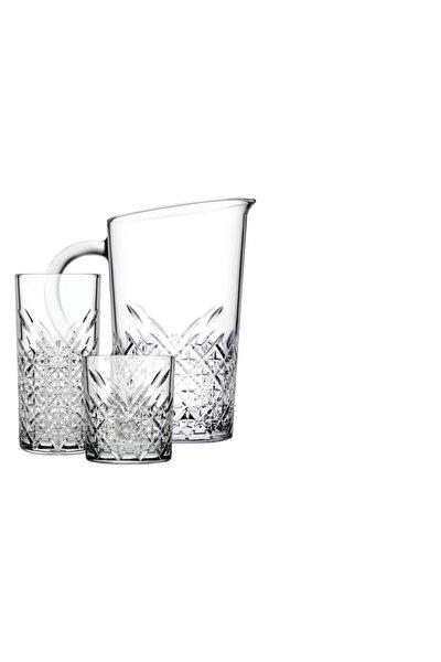 17 Parça Geniş Aile Seti 8 Su Bardağı 8 Meşrubat Bardağı Sürahi Takımı
