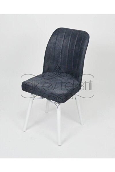 Tekstil Ahşap Ayaklı Antrasit Mutfak Sandalye Balkon Teras Restoran Cafe