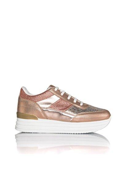 Kadın Rose Vegan Baskı Bağcıklı Klasik Spor Ayakkabı -i3029