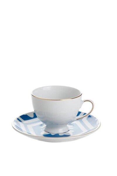 Morocco Desen2 Mavi Tabaklı Kahve Fincanı 80 Cc