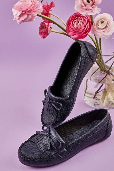 Lacivert Kadın Loafer Ayakkabı L05421231