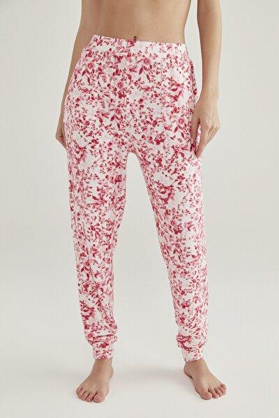 Pembe Melanj Pink Flowers Pantolon