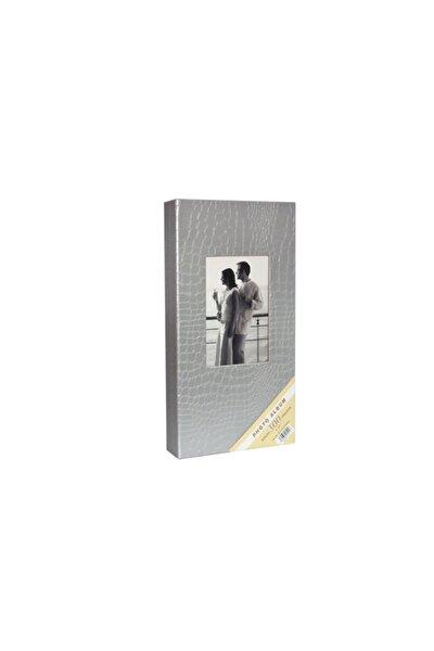 10x15cm 300'lük Deri Fotoğraf Albümü - Gümüş